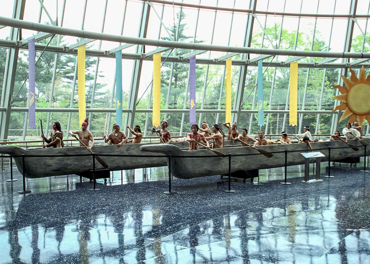Dugout canoe replicas.