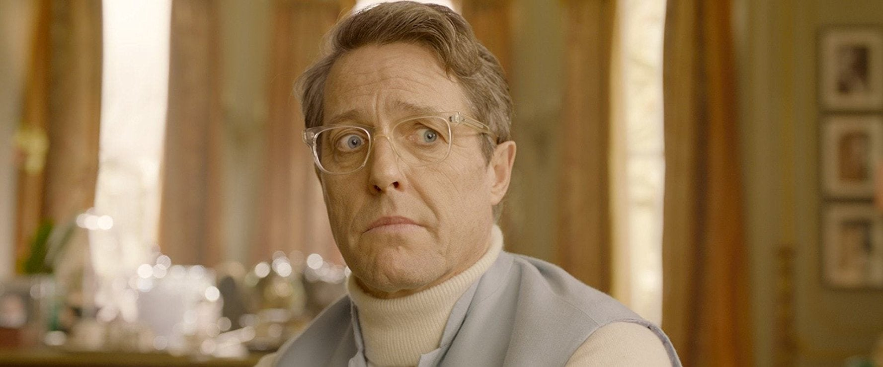 Hugh Grant in Paddington 2.