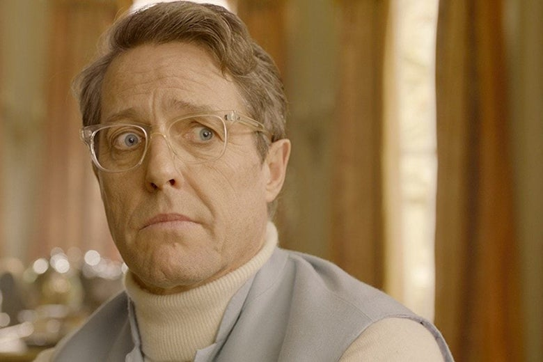 Hugh Grant in Paddington 2.