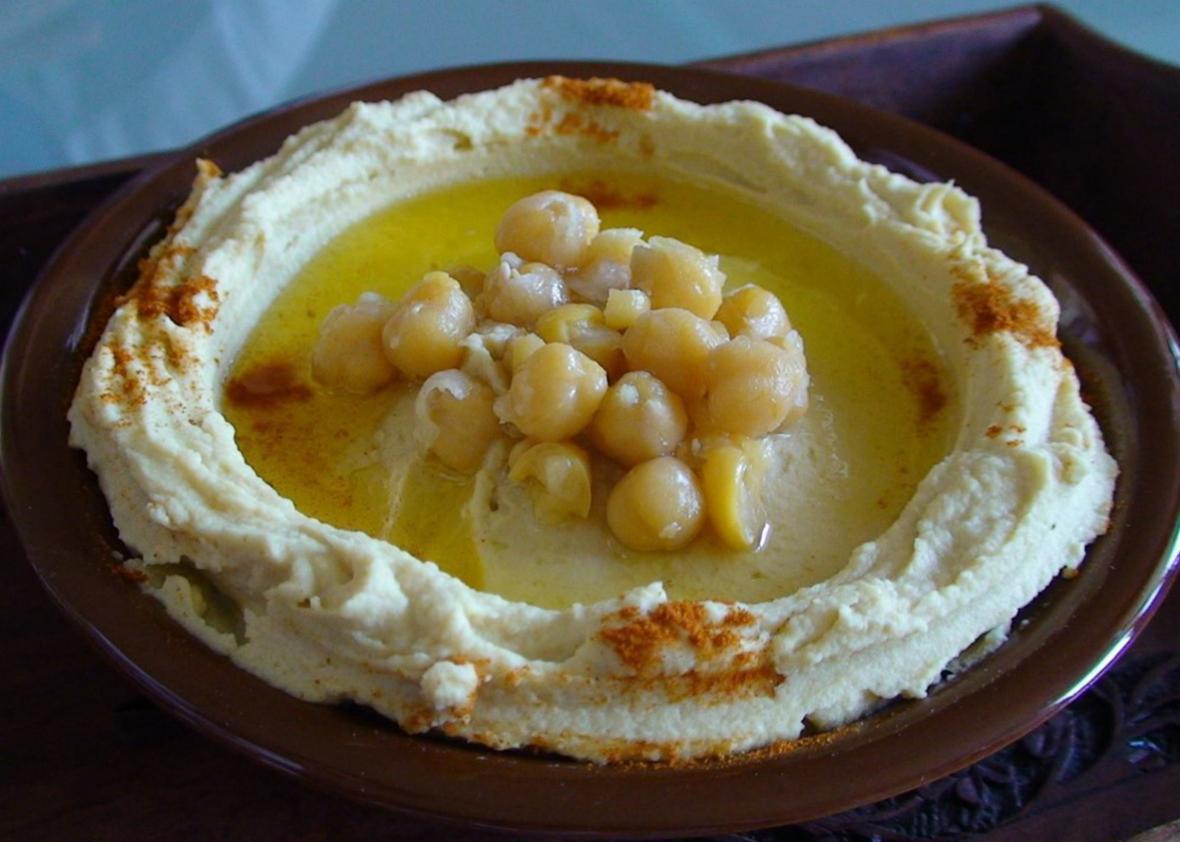 Hummus at Talal al-Tinawi's restaurant.