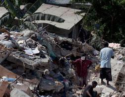 Collapsed buildings in Haiti. Click image to expand.