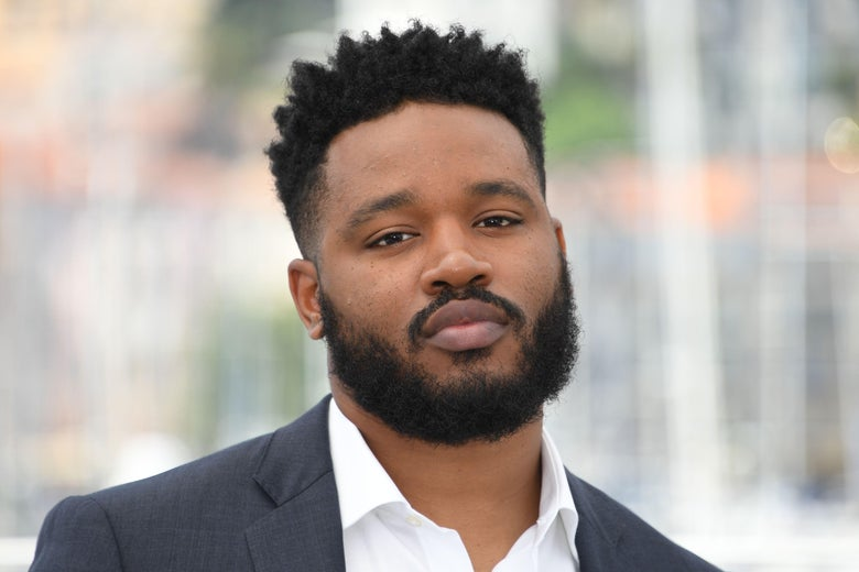 Ryan Coogler gazes into the camera.