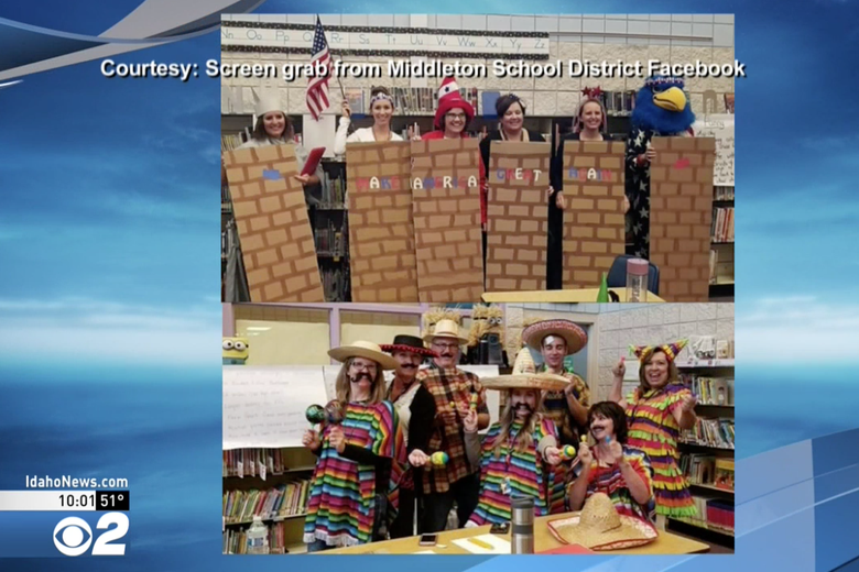School district in Idaho apologizes after teachers dress up