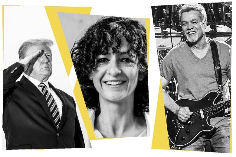Donald Trump, Emmanuelle Charpentier, and Eddie Van Halen.