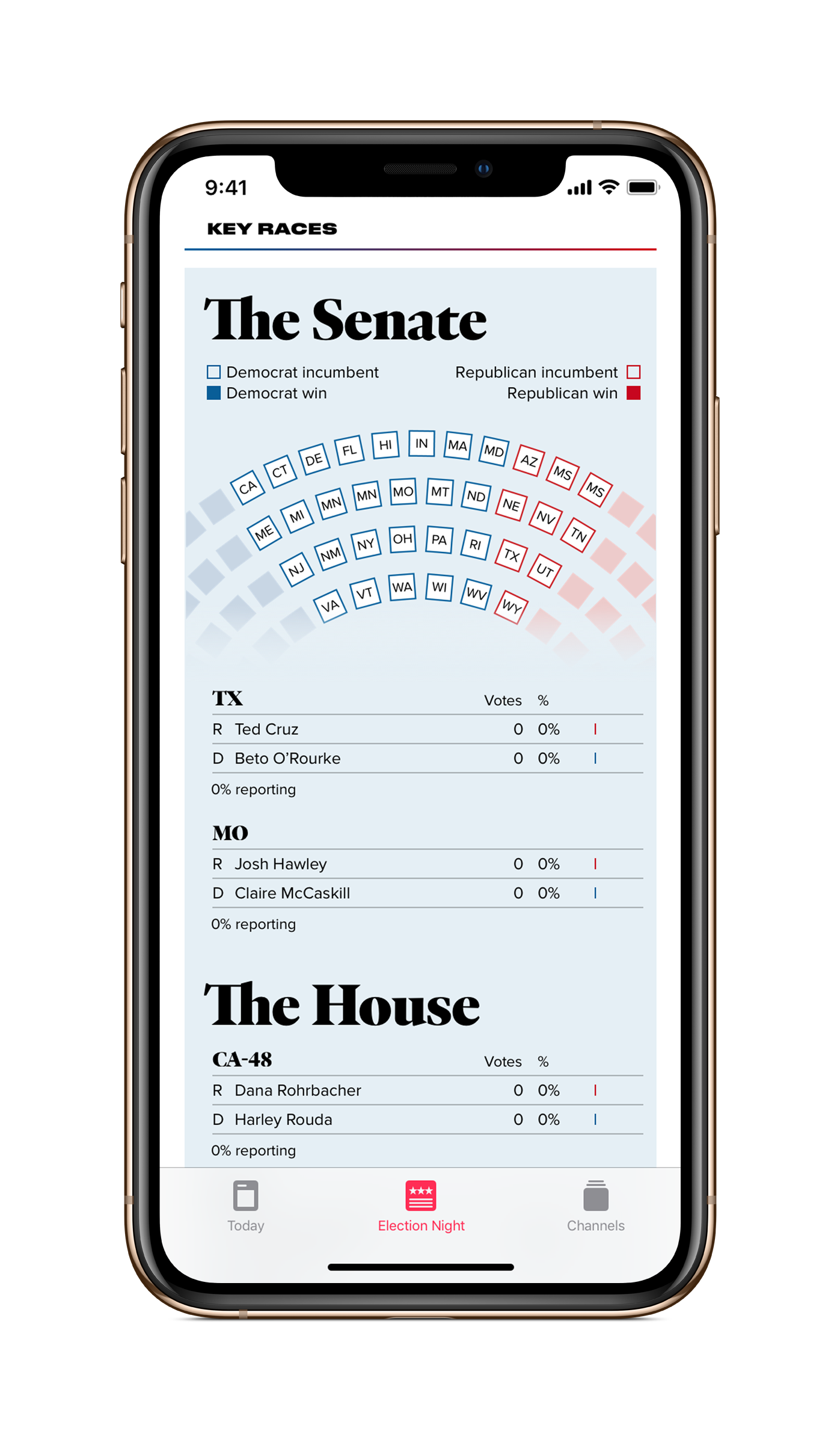 Apple News election night app