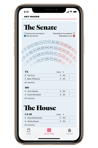 Apple News election night app