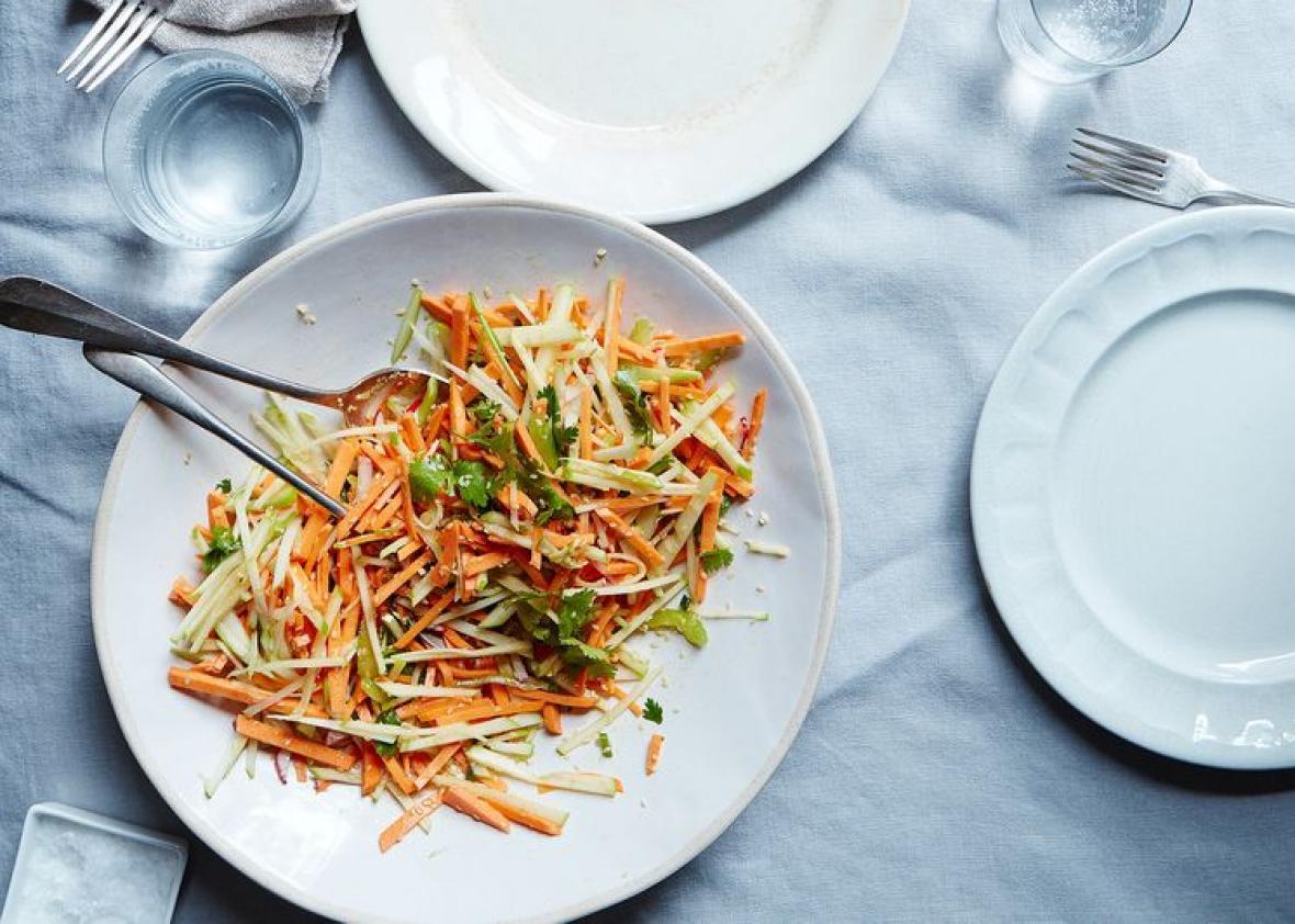 Sweet potato, celery, and apple salad recipe.