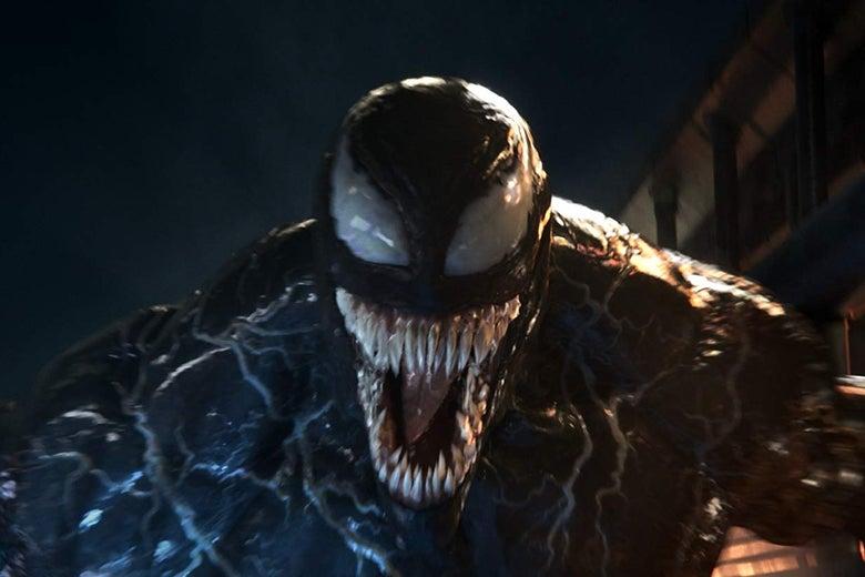 Venom, looking happy.