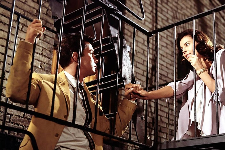 Richard Beymer and Natalie Wood in the 1961 film West Side Story.