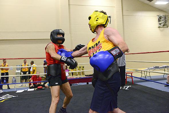 Scott and Seth fight on Day 3 at Gleason's Gym Camp 2014.