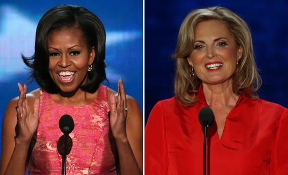 First lady Michelle Obama, Ann Romney wife of Republican presidential candidate