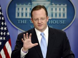 US Press Secretary Robert Gibbs. Click image to expand.