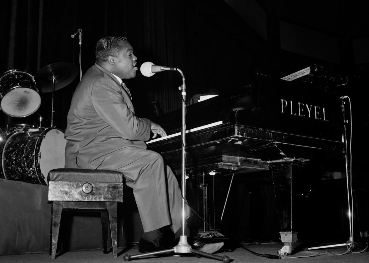 Fats Domino performing in Paris in 1962.
