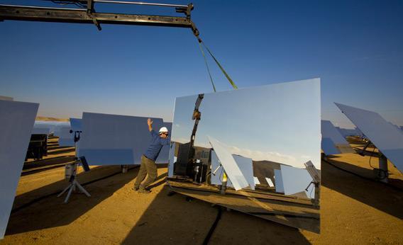 Moving solar panels.