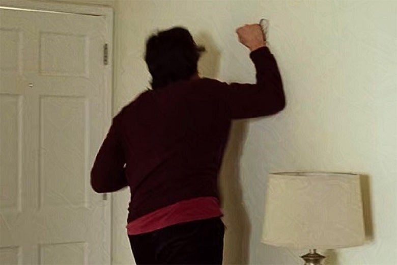 Adam Driver punching a wall in Marraige Story.