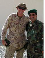 Canadian and Afghan officers together