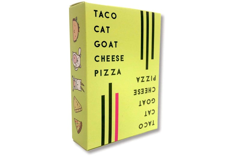 Box of Taco Cat Goat Cheese Pizza.