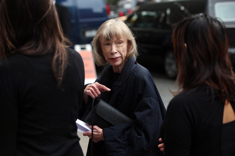 Author Joan Didion.