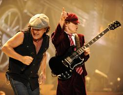 Brian Johnson (left) and Angus Young of AC/DC. Click image to expand.