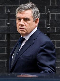 British Prime Minister Gordon Brown.
