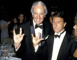 Steve Ross and Dustin Hoffman. Click image to expand.