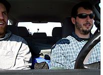 Jonathan and Shagbark on the road in Idaho.