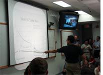 Operations manager Bill shows our data-taking efficiency