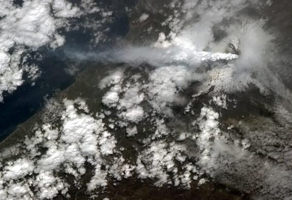 Mount Etna seen from space