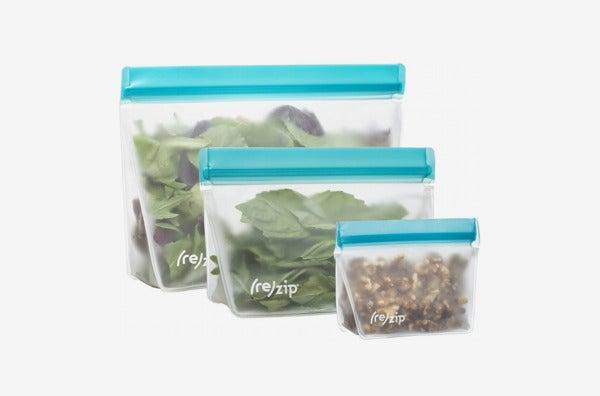 Rezip Stand-Up Leakproof Reusable Storage Bag.