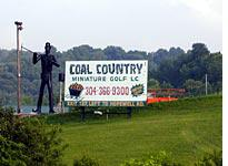 Putting for a coal in one