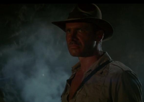 Indiana Jones statue.