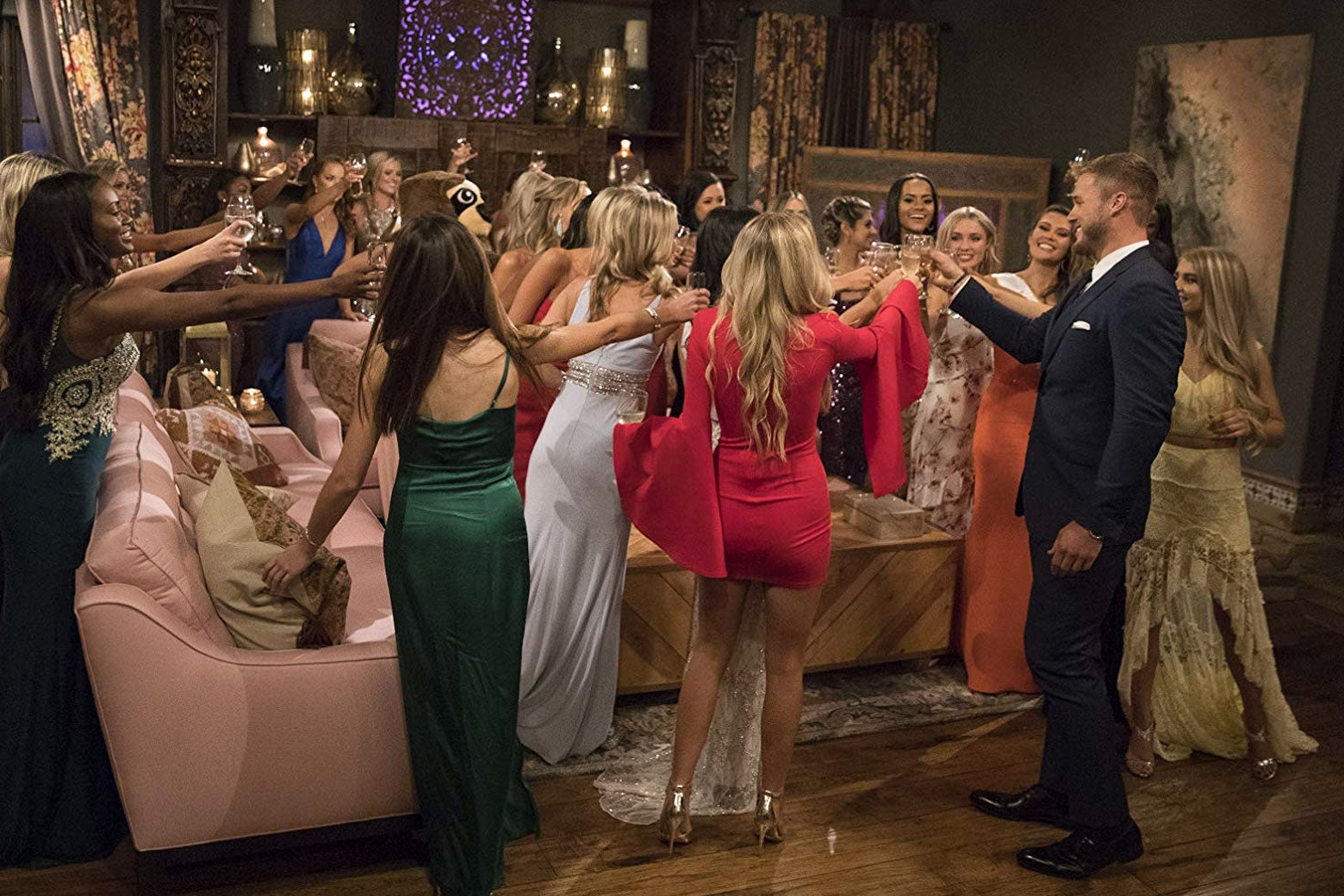 The women of this season of The Bachelor with Colton Underwood.