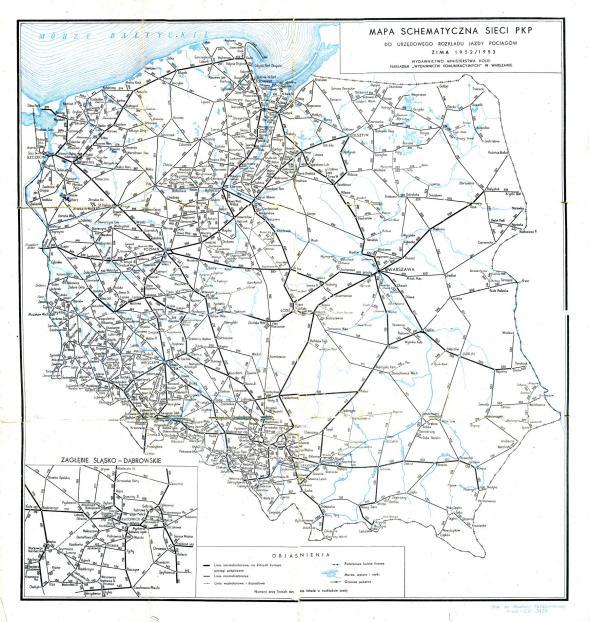 Polish railway map
