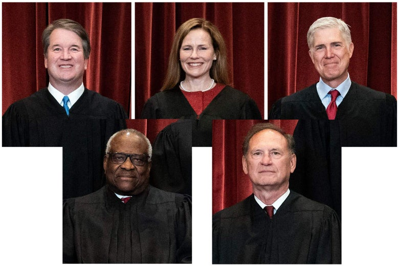 Photos of the five conservative justices