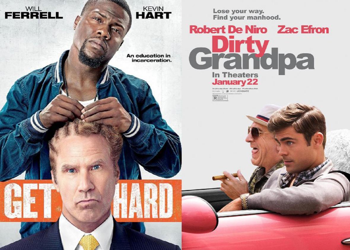 Get Hard, Dirty Grandpa posters.