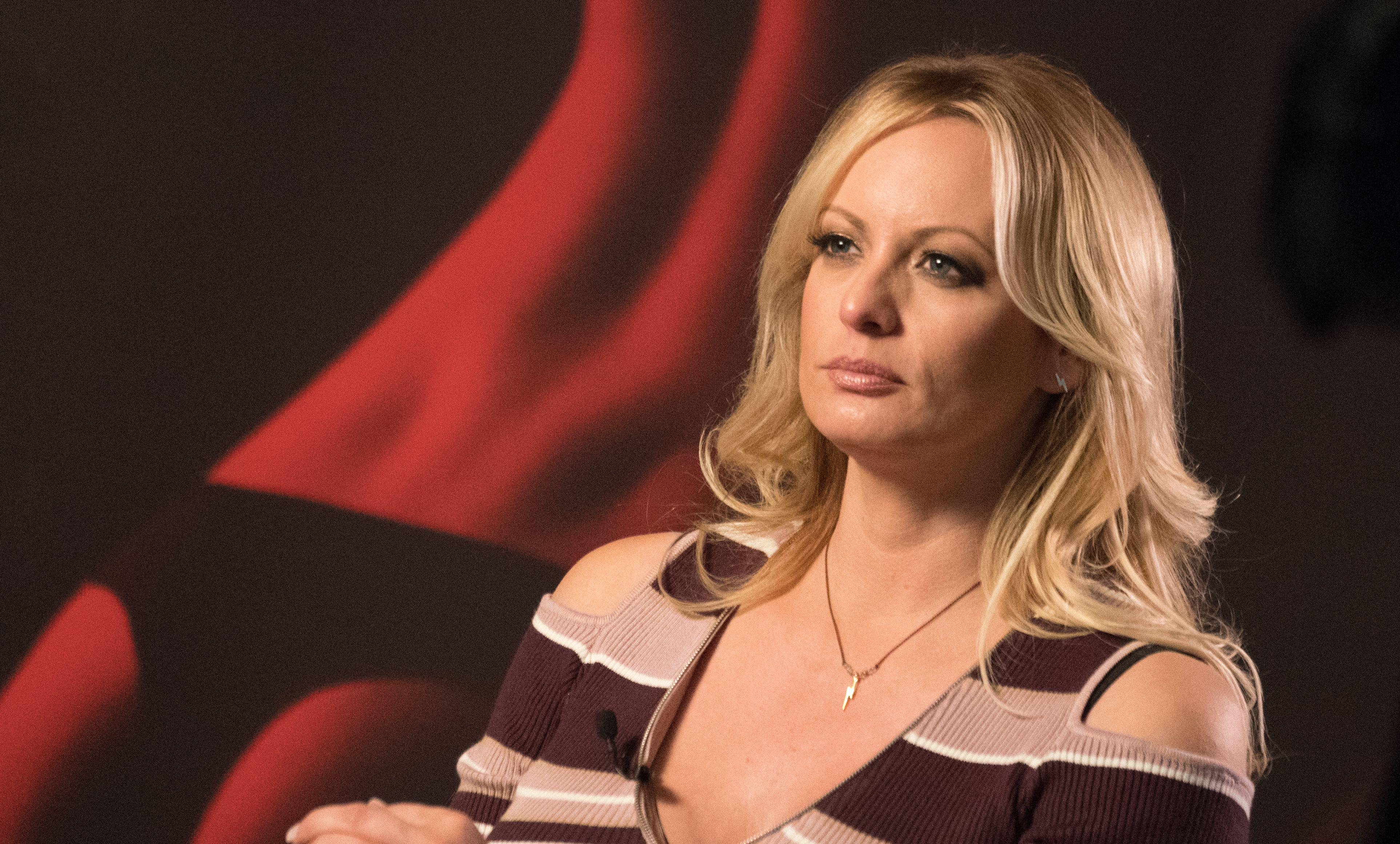 Stormy Daniels during an interview in Berlin on October 11, 2018.