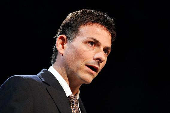 David Einhorn, President of Greenlight Capital, speaks at the 6th Annual New York Value Investing Congress in New York City, October 2010.