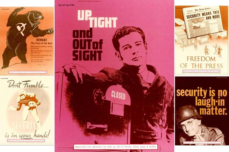 Various NSA posters.