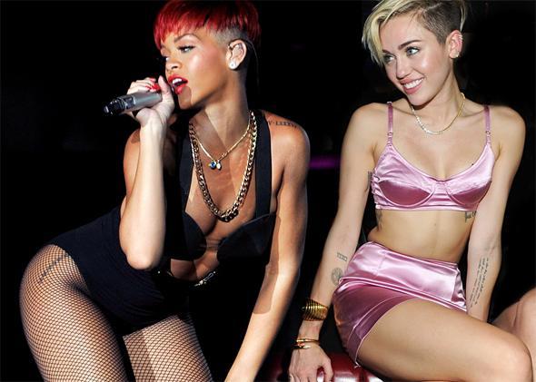 Rihanna, Miley Cyrus