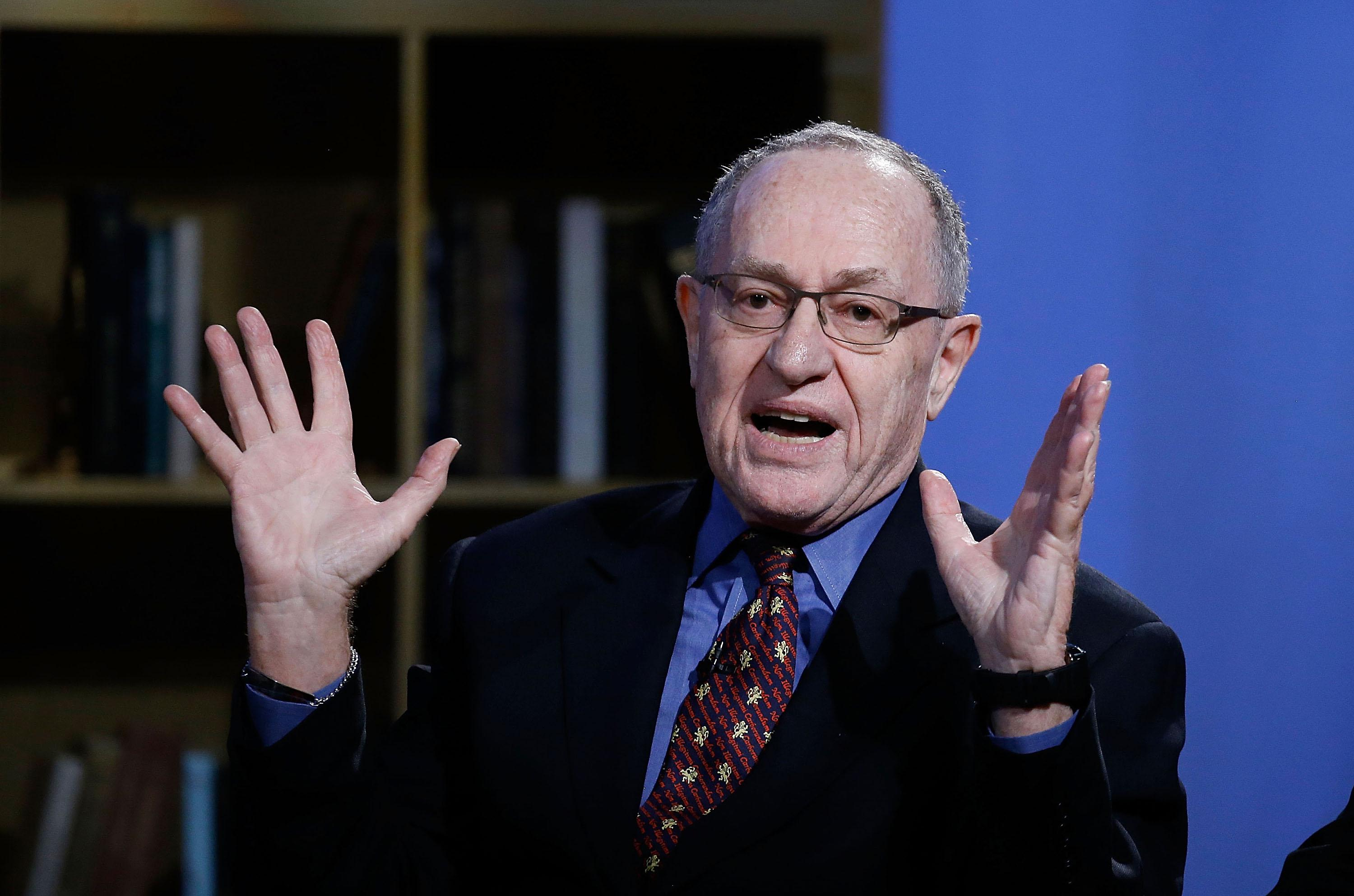 NEW YORK, NY - FEBRUARY 03:  Alan Dershowitz attends Hulu Presents 'Triumph's Election Special' produced by Funny Or Die at NEP Studios on February 3, 2016 in New York City.  (Photo by John Lamparski/Getty Images for Hulu)