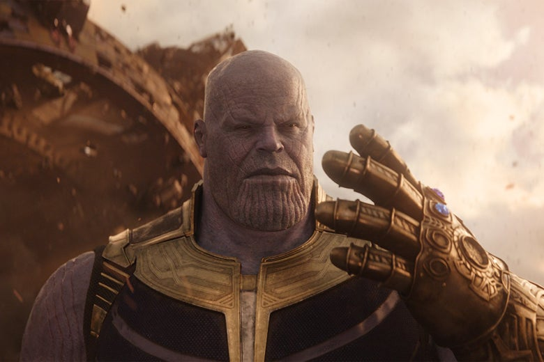 Josh Brolin as Thanos.