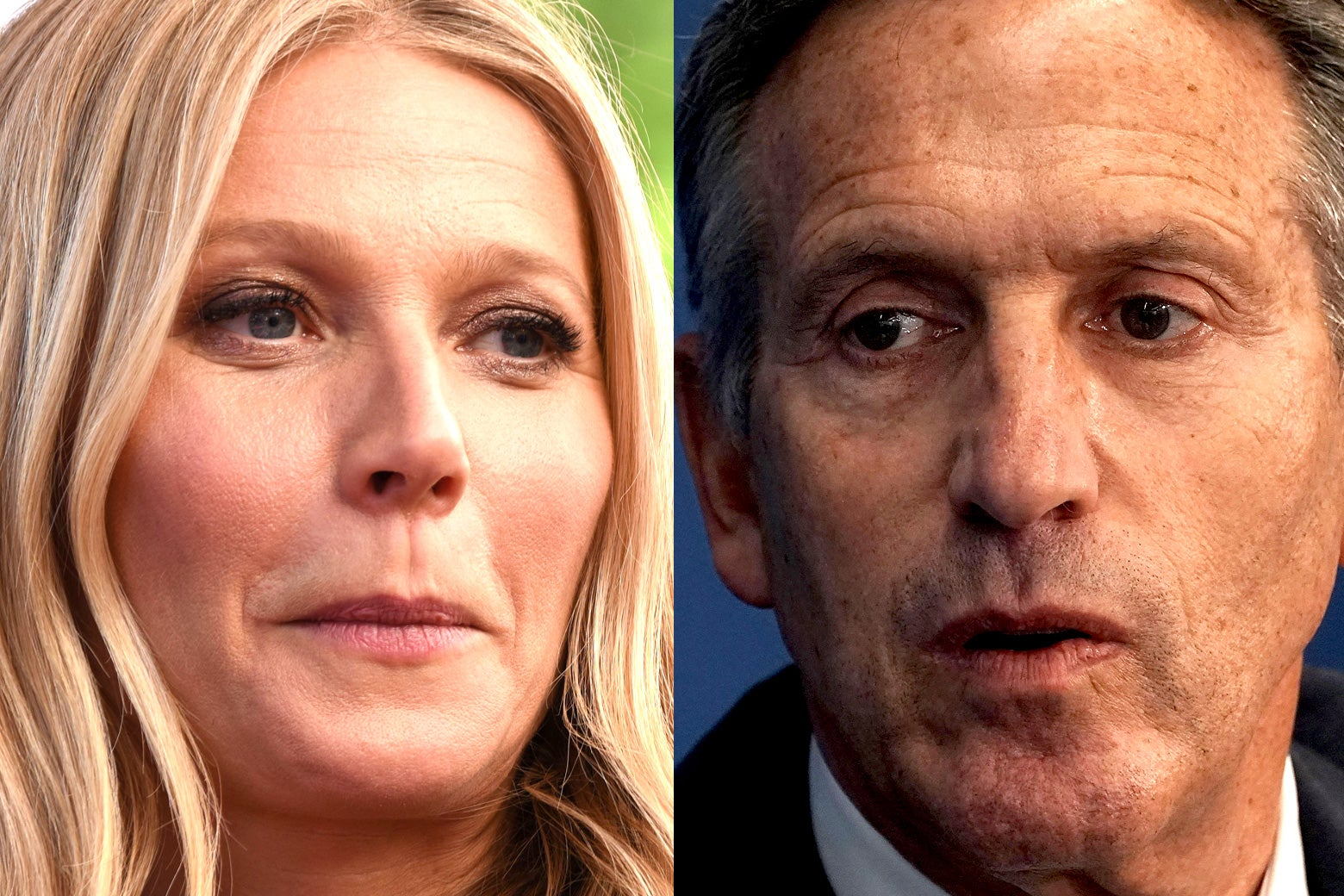 Gwyneth Paltrow and Howard Schultz
