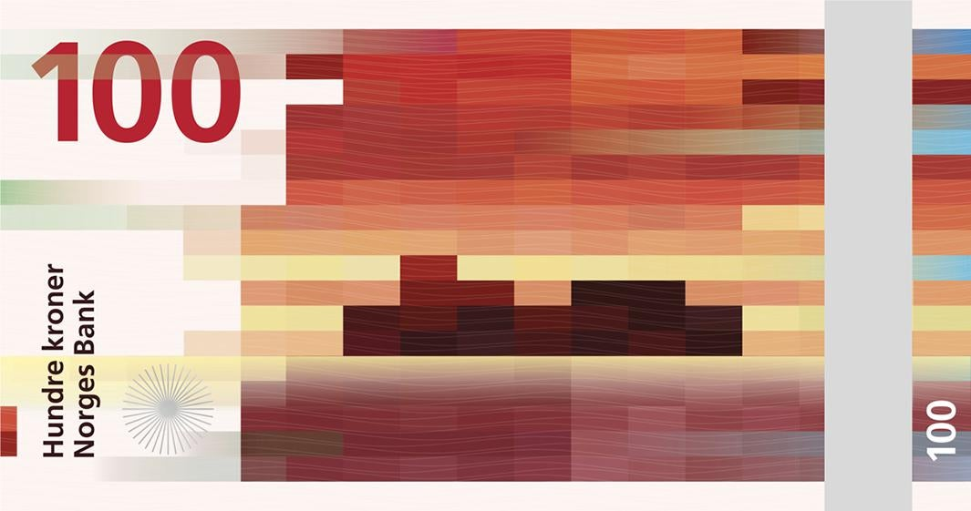 Norway Chooses Pixelated Banknote Designs From Snohetta Design For Its New Krone Notes