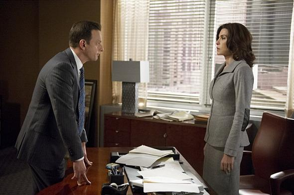 Will Gardner (Josh Charles) and Alicia Florrick (Julianna Margulies)