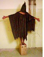 Photo of a prisoner from Abu Ghraib