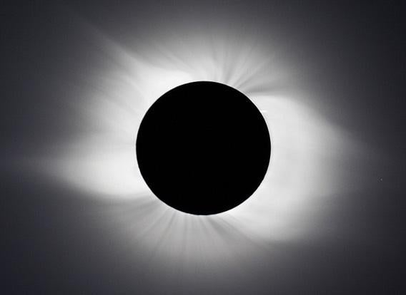 Solar eclipse over Novosibirsk, Russia in 2008
