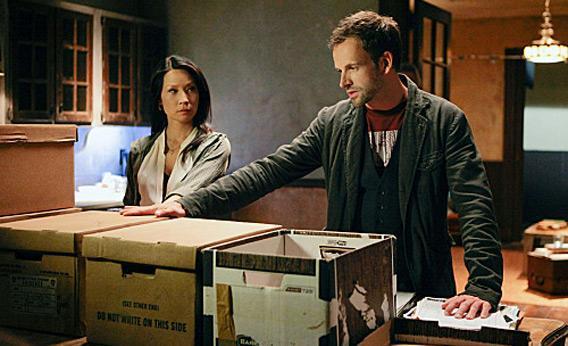 Sherlock (Jonny Lee Miller) and Joan (Lucy Liu) in 'Elementary.'