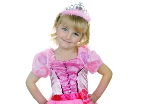 A girl dressed as a princess