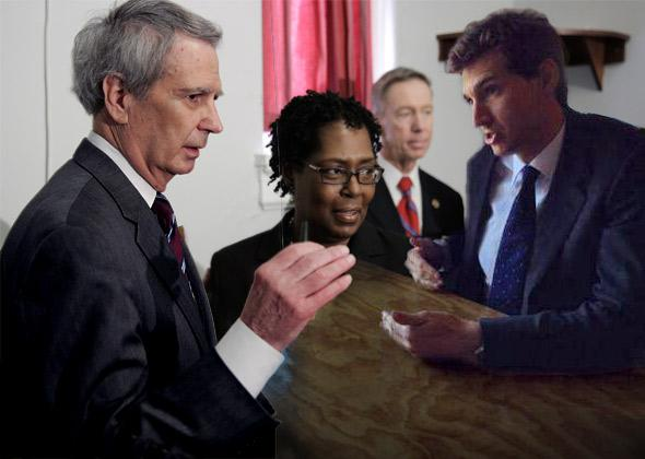 U.S. Rep. Walter Jones (R-NC), left, and Taylor Griffin.