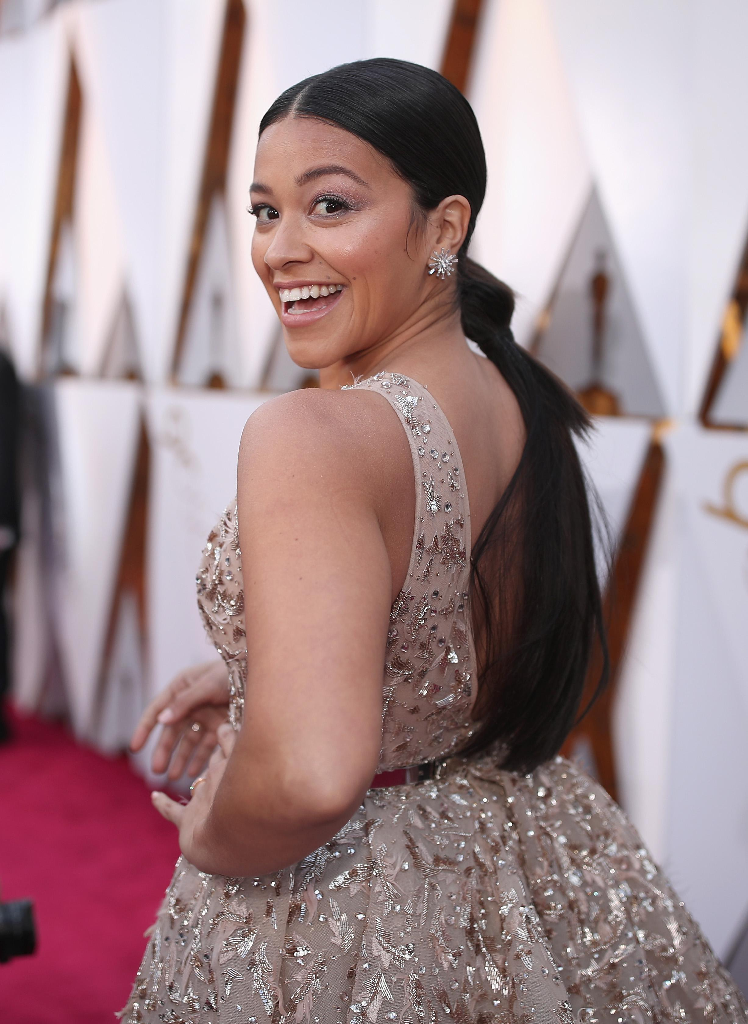 HOLLYWOOD, CA - MARCH 04: Gina Rodriguez attends the 90th Annual Academy Awards at Hollywood & Highland Center on March 4, 2018 in Hollywood, California.  (Photo by Christopher Polk/Getty Images)